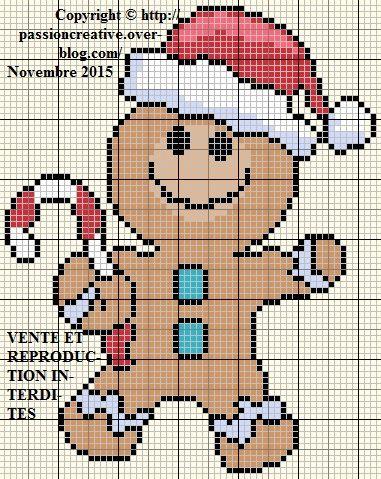 dessin pixel pain d'epice