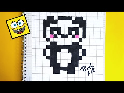Dessin Pixel Panda Les Dessins Et Coloriage