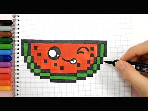 dessin pixel papillon