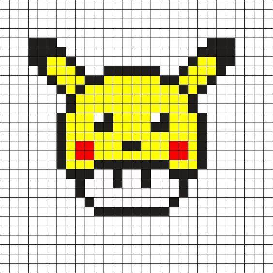Dessin Pixel Pikachu Les Dessins Et Coloriage