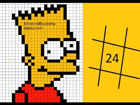 dessin pixel simpson