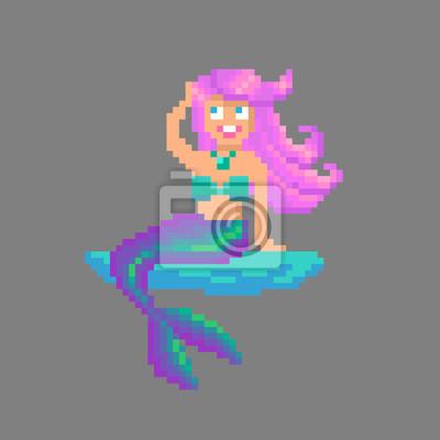 dessin pixel sirene