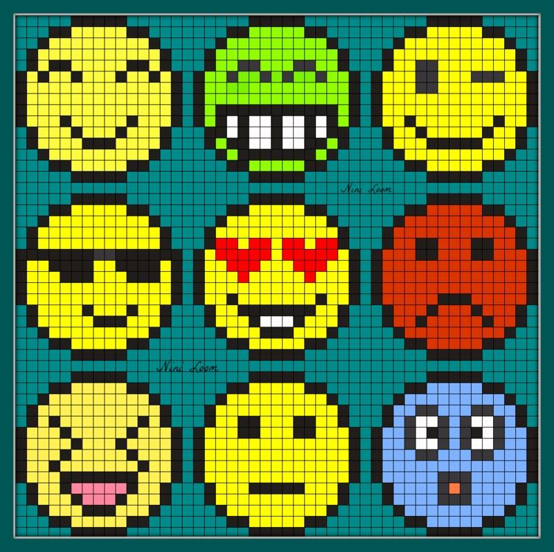Dessin Pixel Smiley A Imprimer Les Dessins Et Coloriage