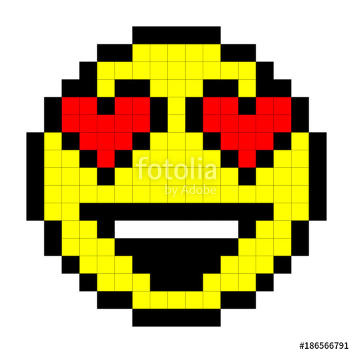 Dessin Pixel Art Facile Smiley