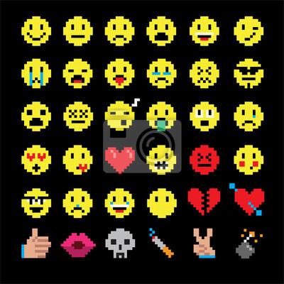 dessin pixel smiley a imprimer
