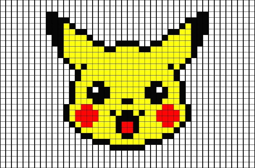 Modèle Pixel Art Facile Smiley