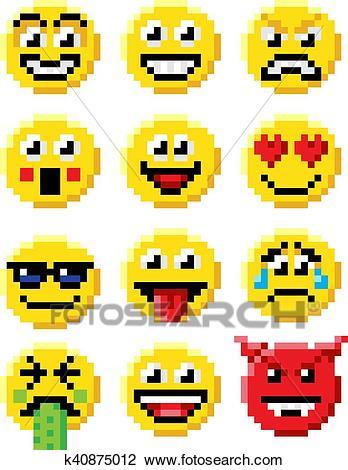 Dessin Pixel Smiley Les Dessins Et Coloriage