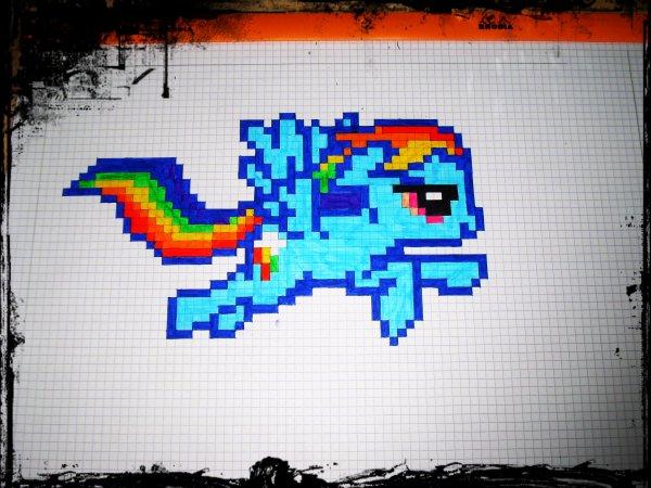 Dessin Pixel Sur Feuille A Carreaux Les Dessins Et Coloriage
