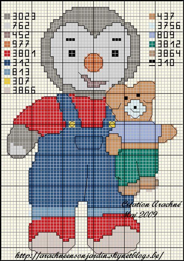 dessin pixel tchoupi