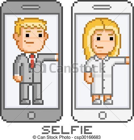 dessin pixel telephone