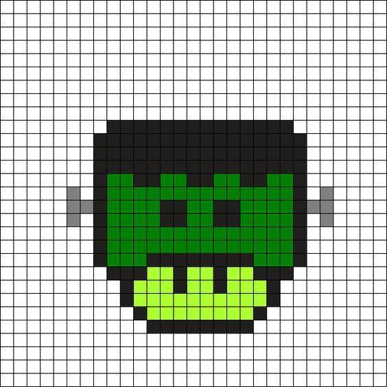 dessin pixel tigrou