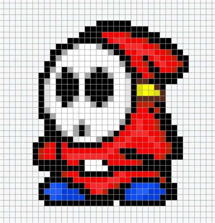Pixel Art Champignon Mario Licorne