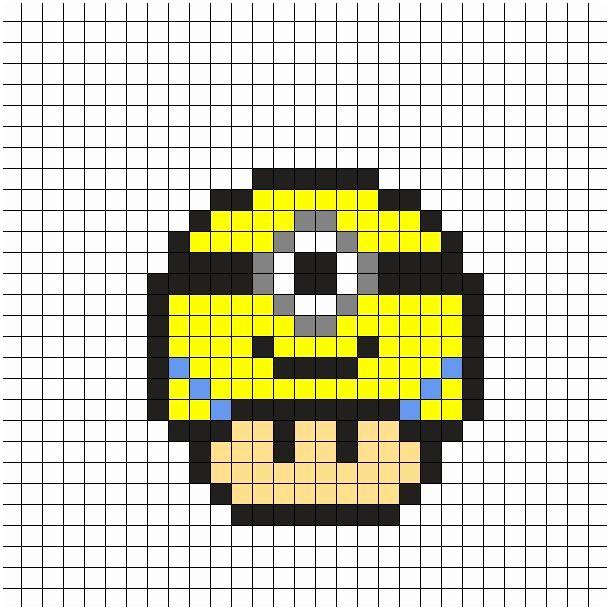 Pixel Art Champignon Licorne