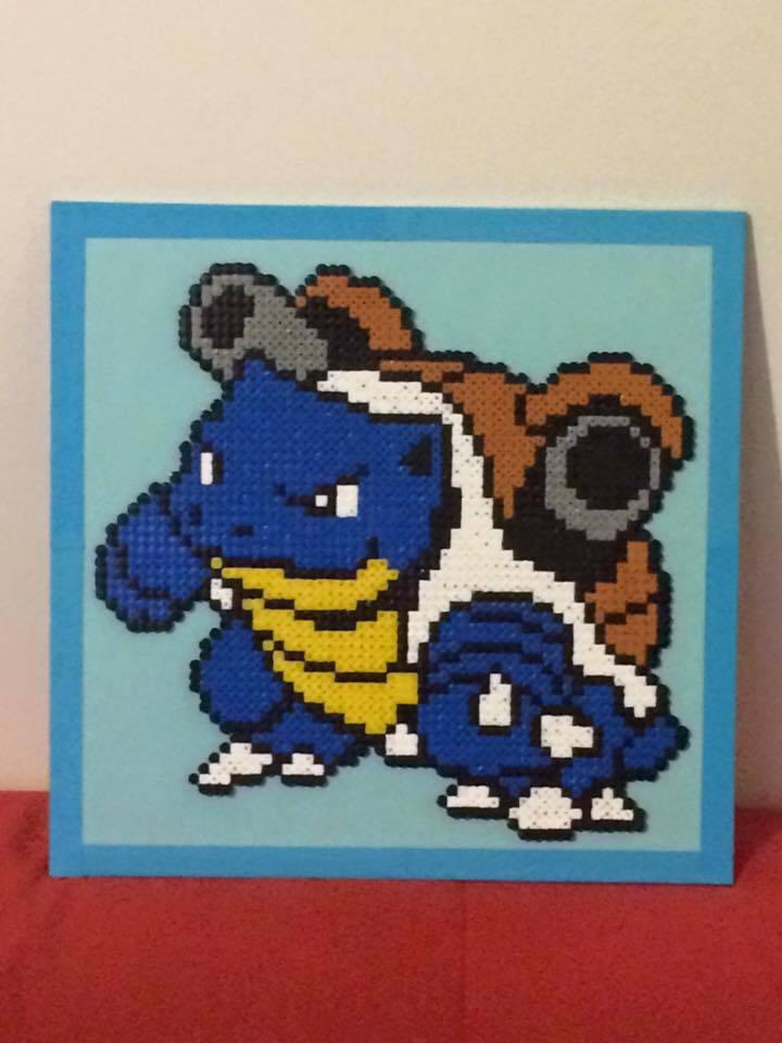 Dessin Pixel Tortank Les Dessins Et Coloriage