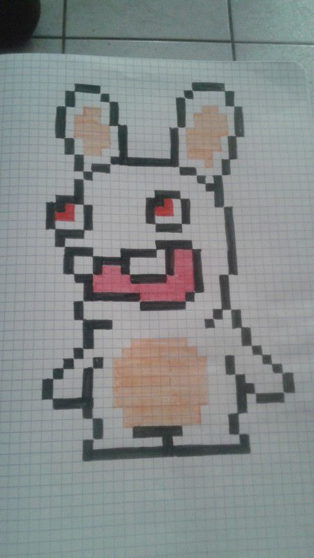 dessin pixel tortue