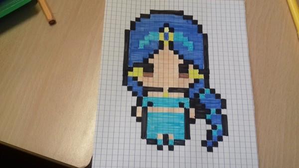Dessin Pixel Trop Mignon Les Dessins Et Coloriage