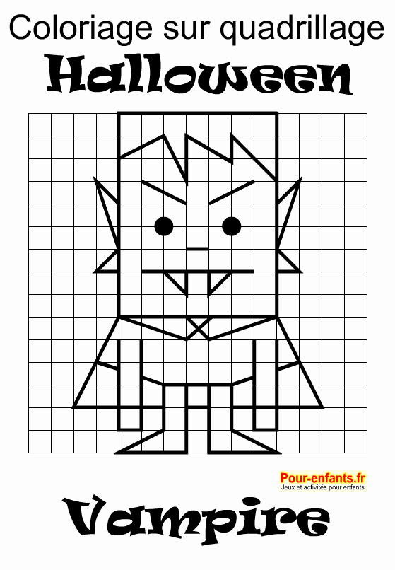 dessin pixel vampire
