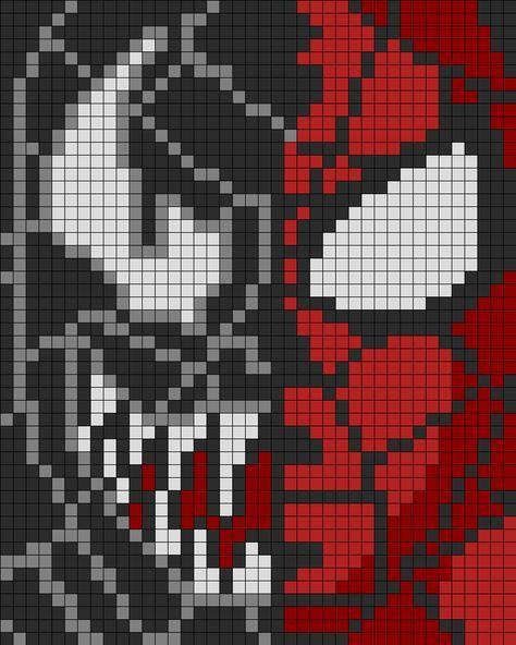 dessin pixel venom