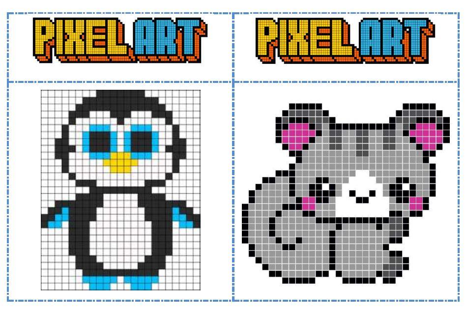 dessin pixel vierge a imprimer