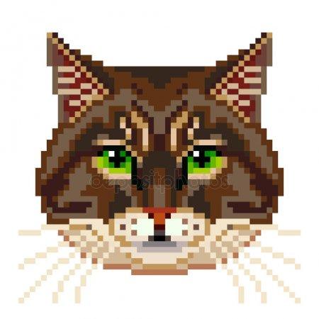 dessin pixel visage