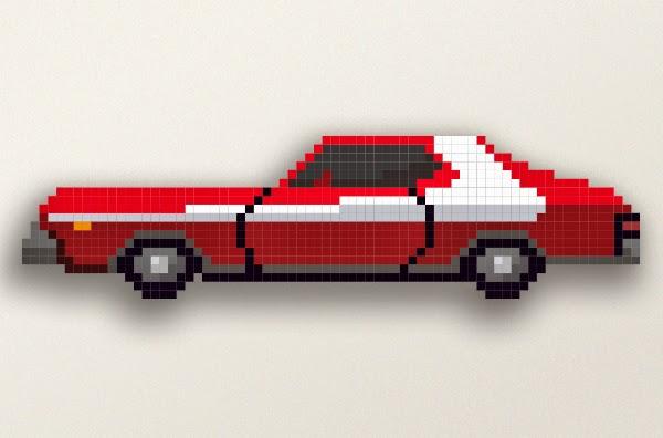 Dessin Pixel Voiture