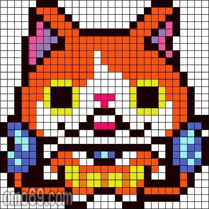 dessin pixel yo kai watch