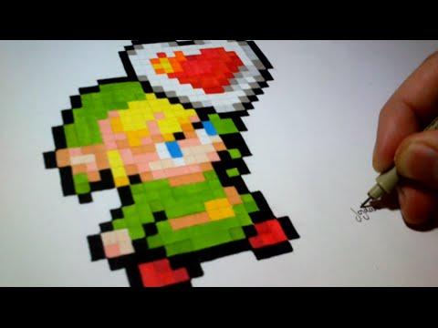 dessin pixel zelda