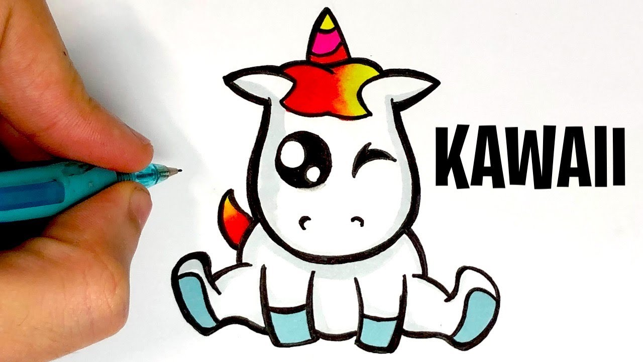 dessin kawaii licorne - Les dessins et coloriage