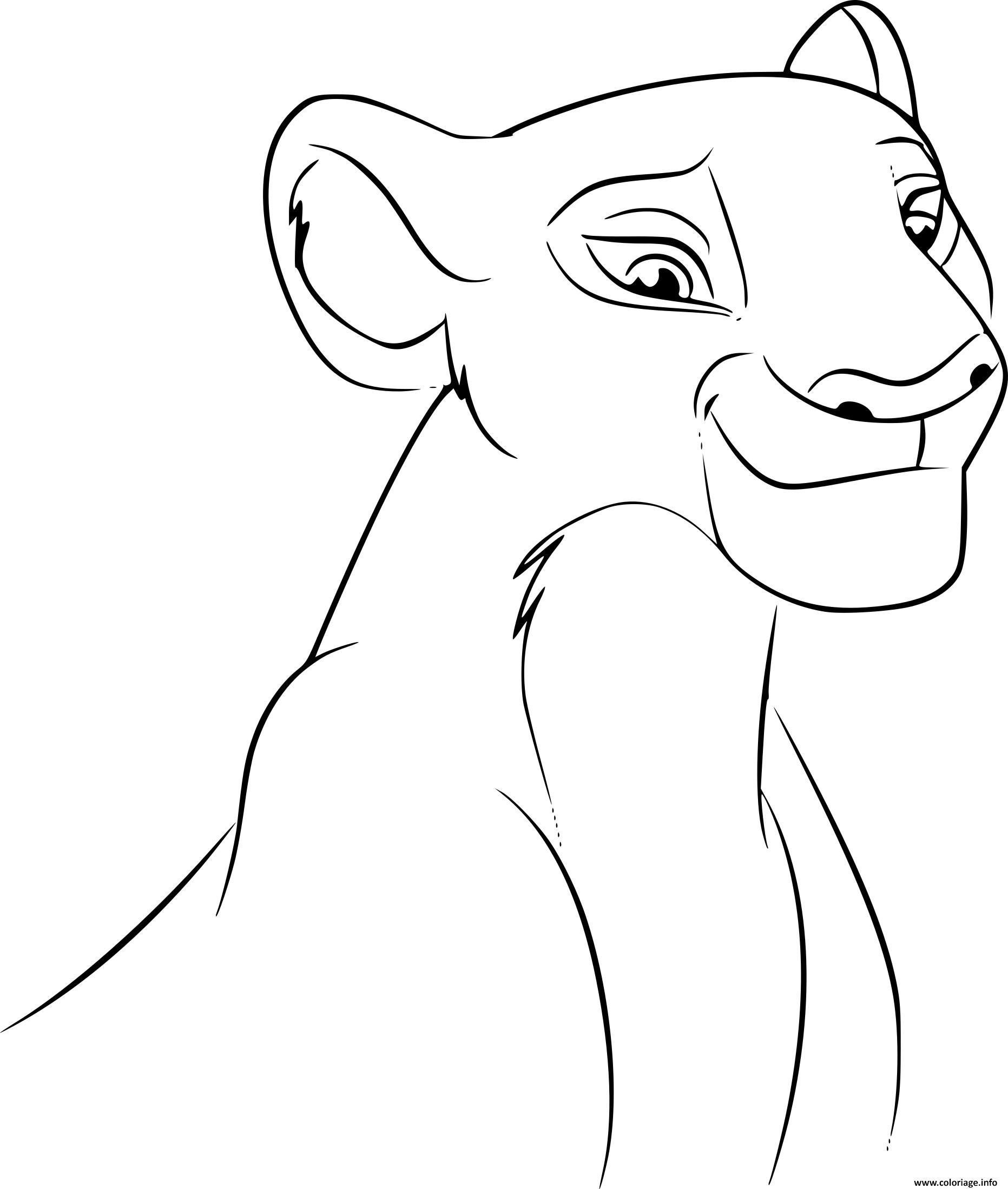 dessin roi lion - Les dessins et coloriage