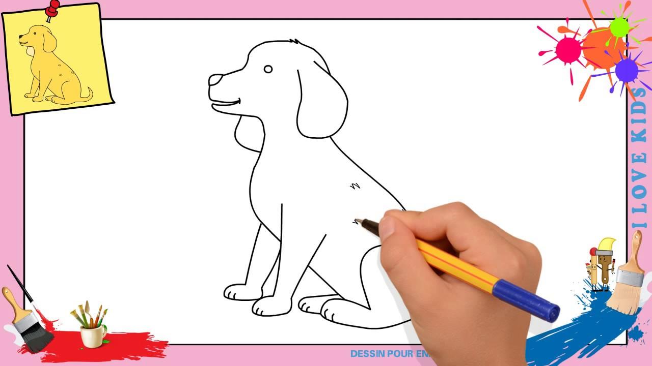 comment dessiner 1 chien - Les dessins et coloriage