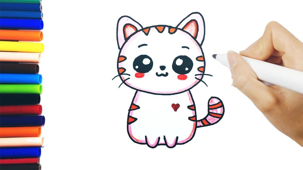 dessin chat facile - Les dessins et coloriage