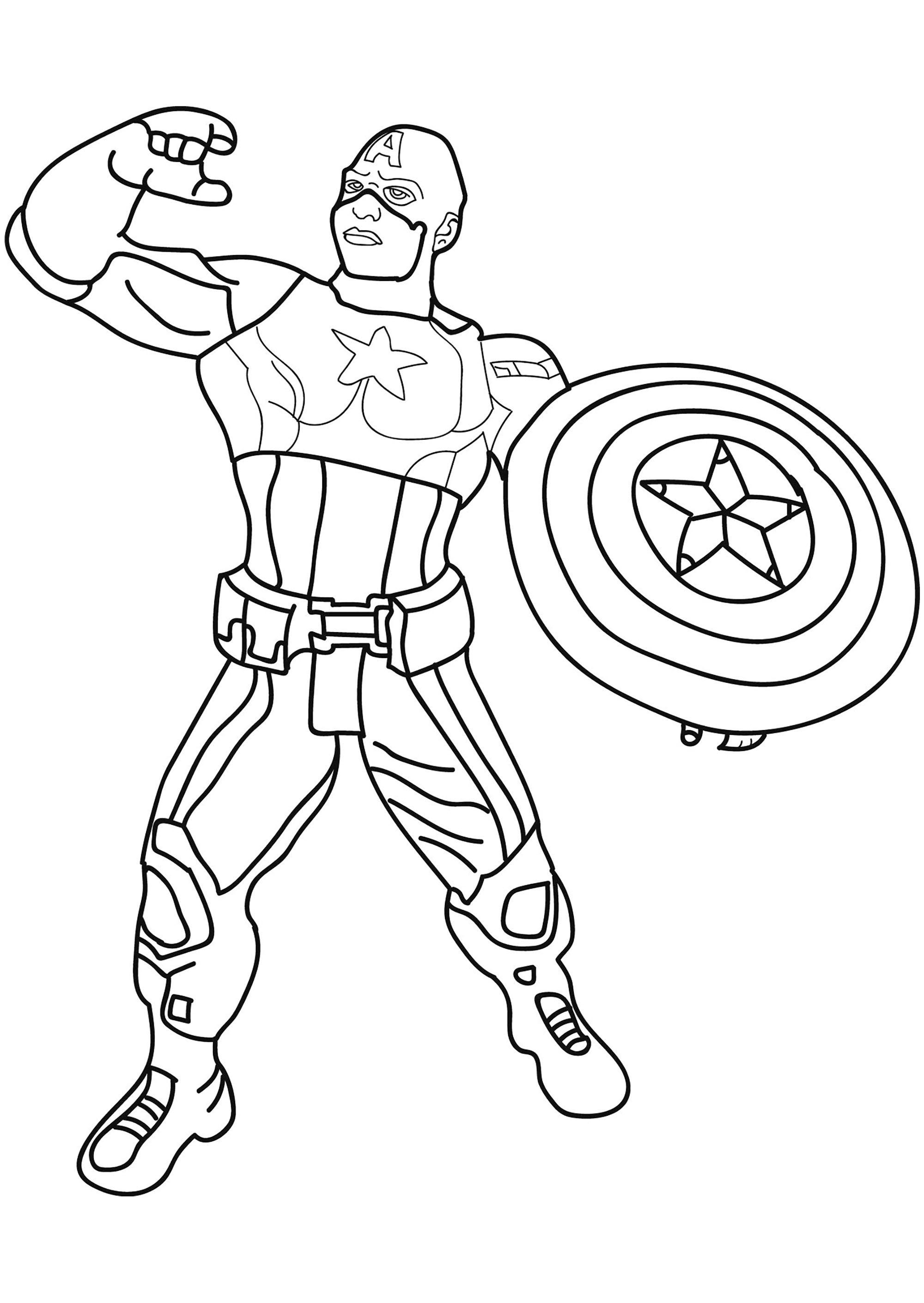 comment dessiner captain america - Les dessins et coloriage