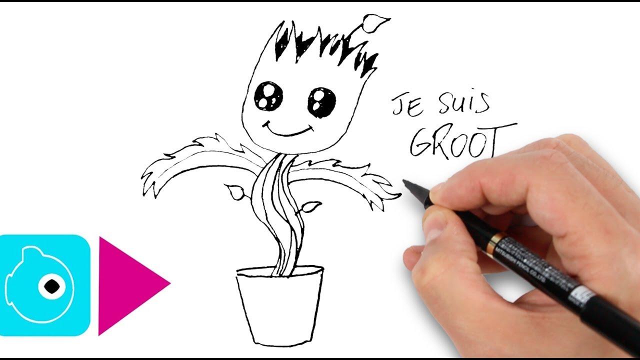 comment dessiner groot - Les dessins et coloriage
