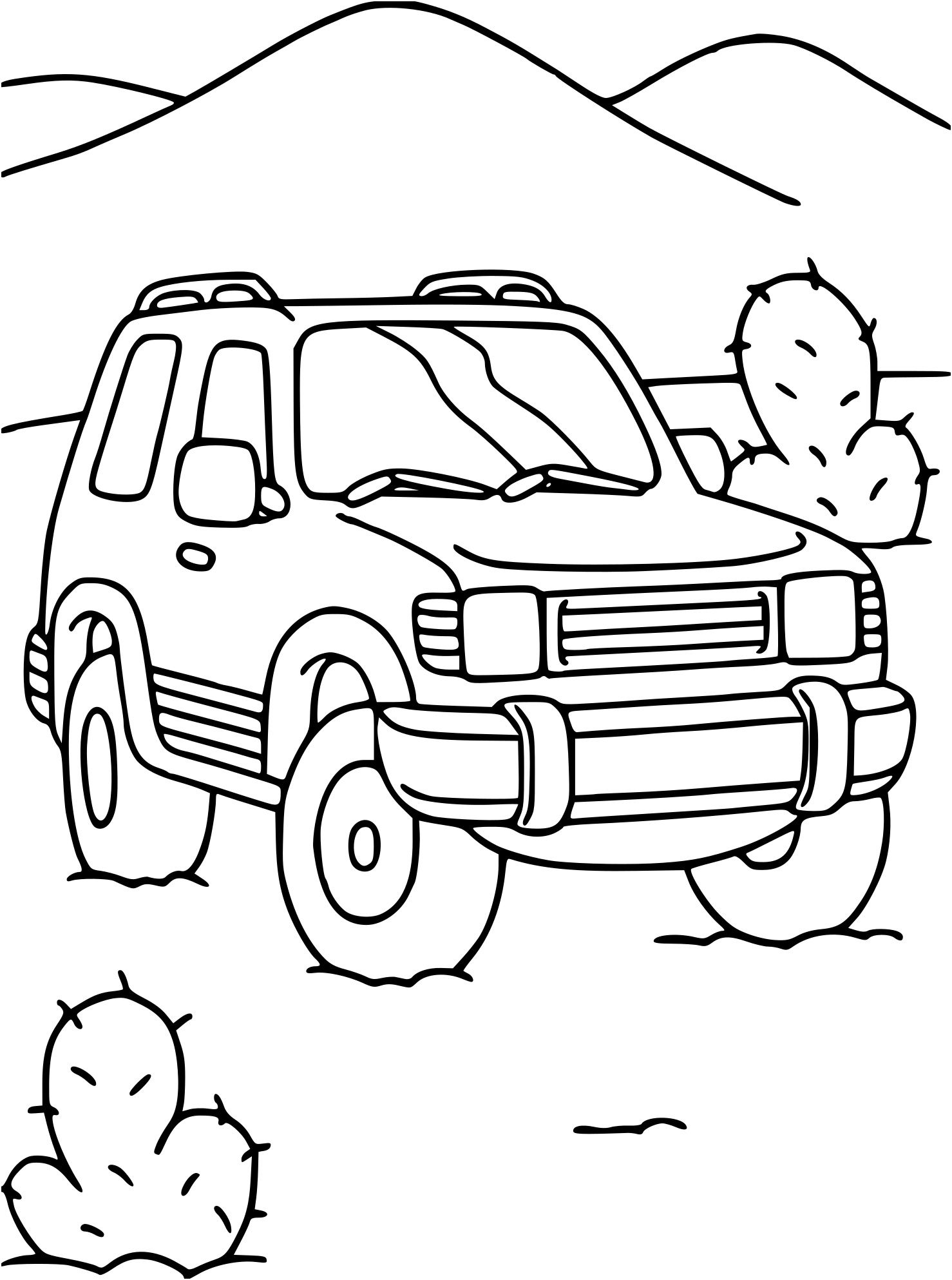 dessin 4x4 - Les dessins et coloriage