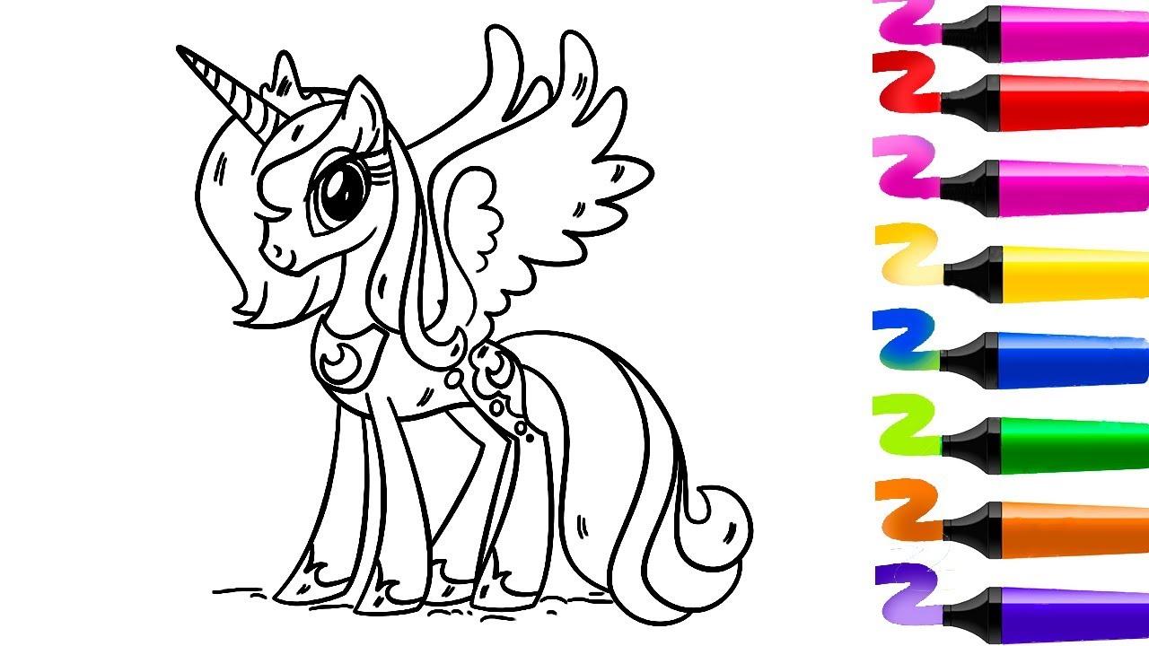 dessin a colorier licorne - Les dessins et coloriage