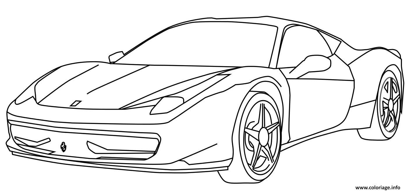 dessin voiture de course - Les dessins et coloriage